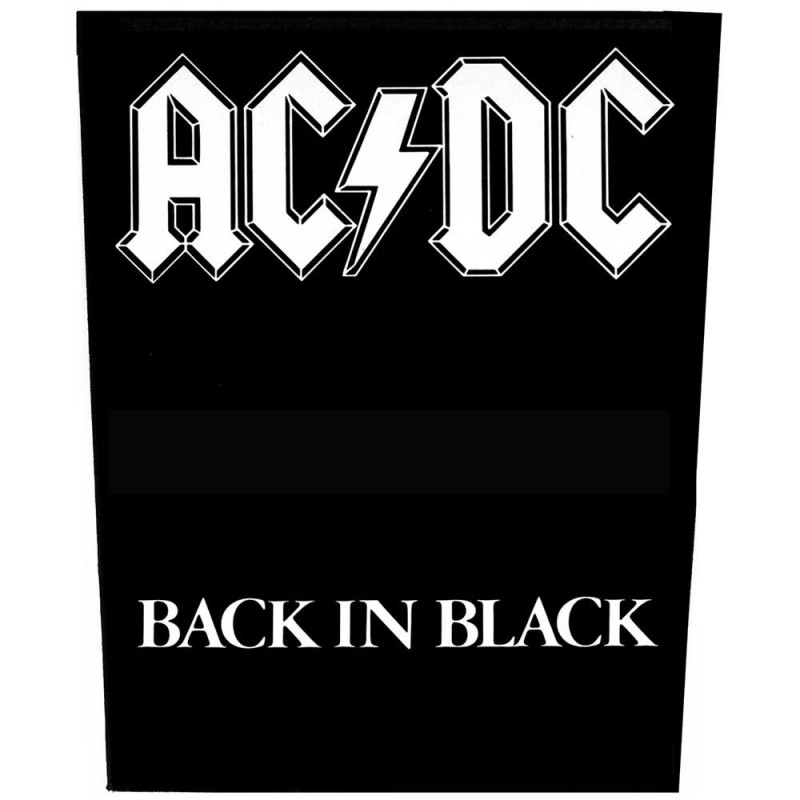 Back Patch AC/DC Back in Black