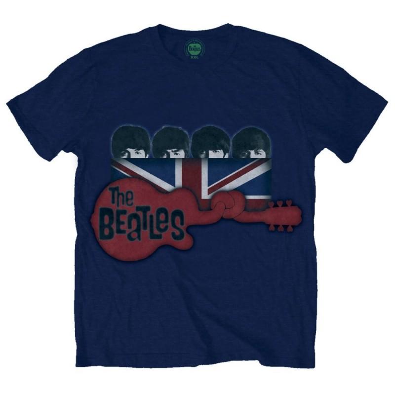 Tricou The Beatles Guitar & Flag
