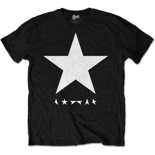 Tricou David Bowie Blackstar (White Star on Black)