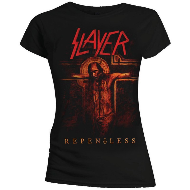 Tricou Damă Slayer Repentless Crucifix