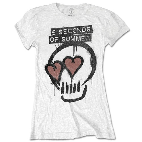 Tricou Damă 5 Seconds of Summer Heart Skull