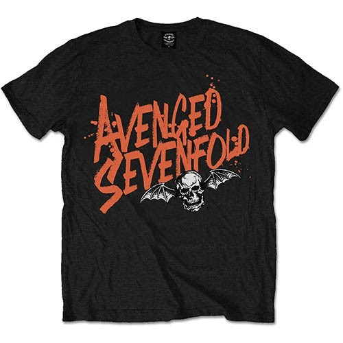 Tricou Avenged Sevenfold Orange Splatter