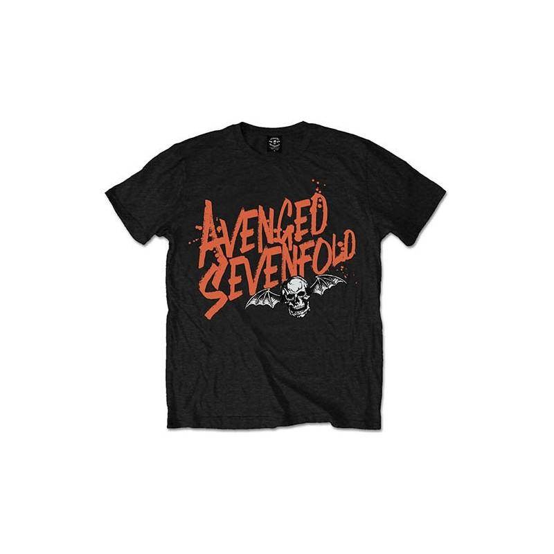 Tricou Avenged Sevenfold Orange Splatter
