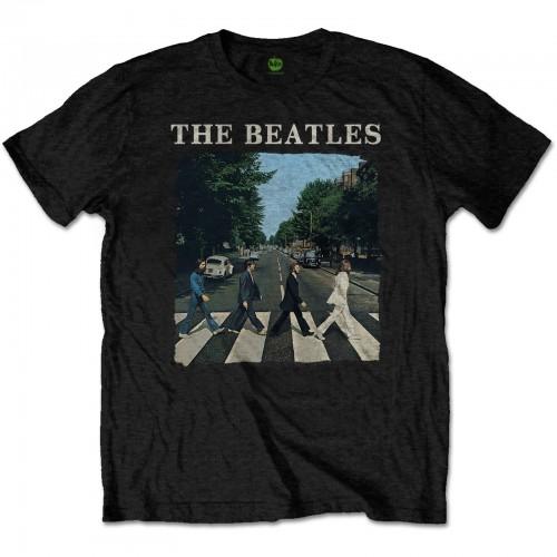 Tricou The Beatles Abbey Road & Logo