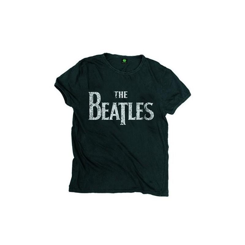 Tricou The Beatles Drop T Logo Vintage