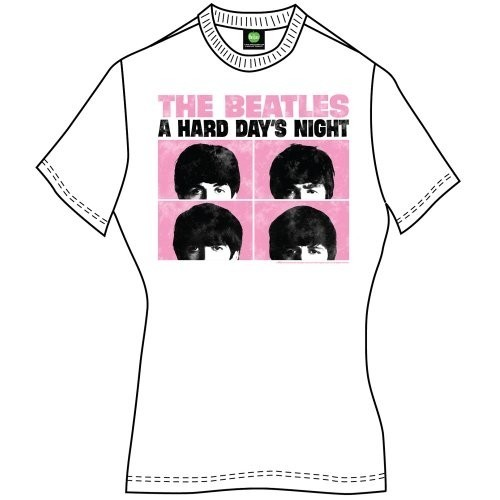 Tricou Damă The Beatles Hard Days Night Pastel
