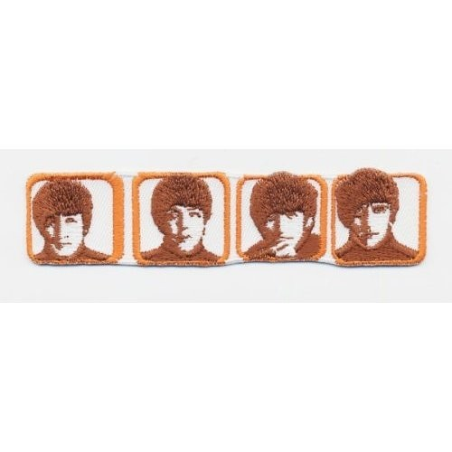 Patch The Beatles Heads in Boxes