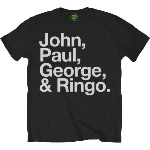 Tricou The Beatles John, Paul, George & Ringo