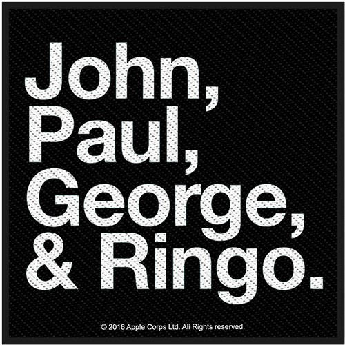 Patch The Beatles Jon, Paul, George & Ringo