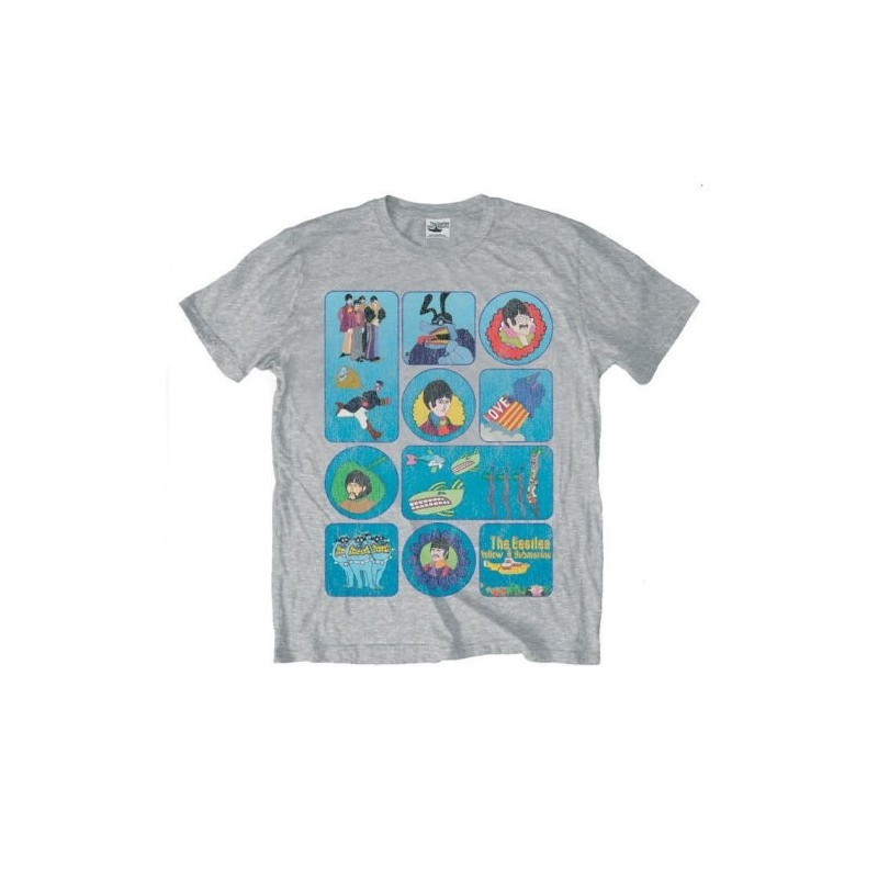 Tricou The Beatles Yellow Submarine Montage