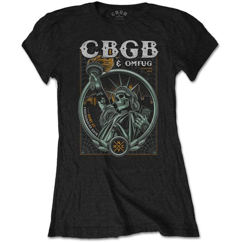 Tricou Damă CBGB Liberty