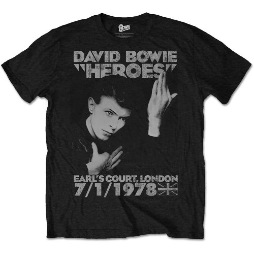 Tricou David Bowie Heroes Earls Court