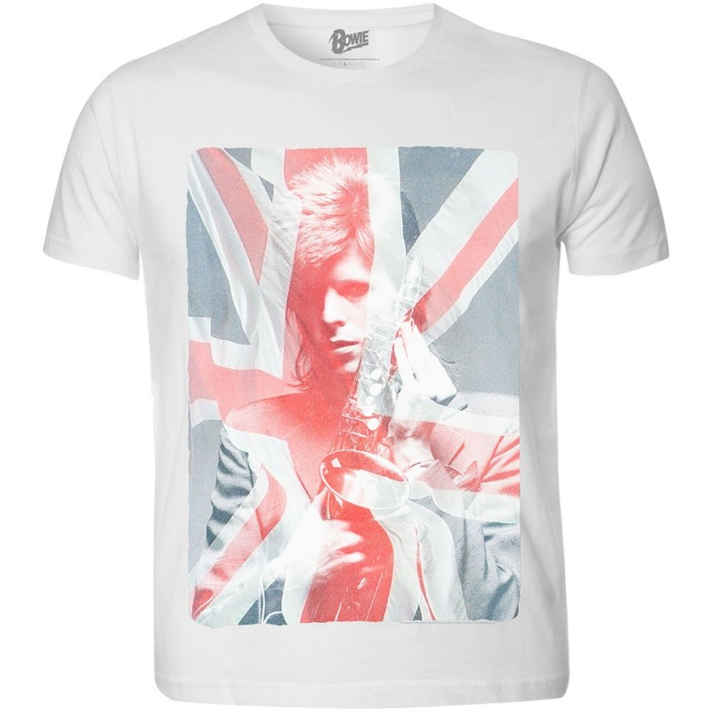 Tricou David Bowie Union Jack & Sax