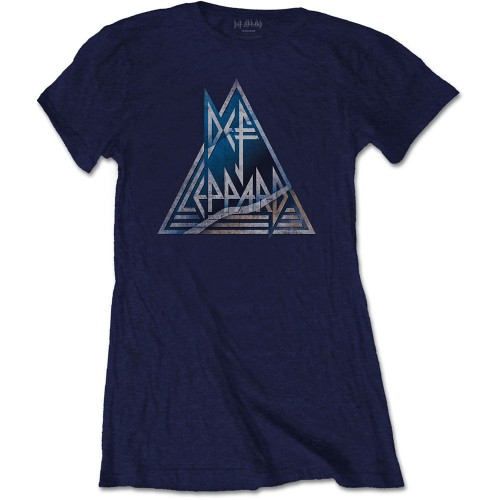 Tricou Damă Def Leppard Triangle Logo