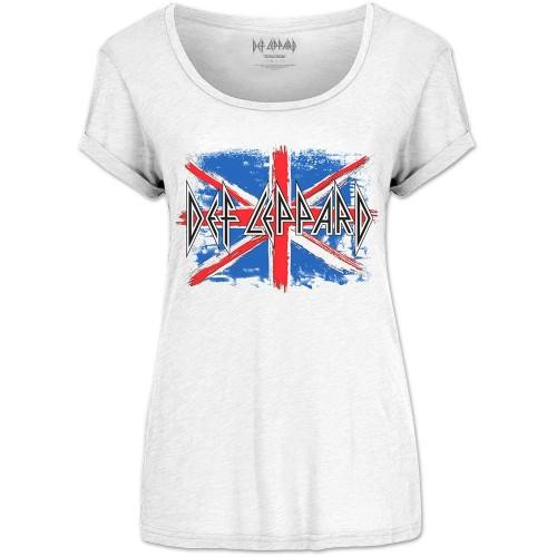 Tricou Damă Def Leppard Union Jack