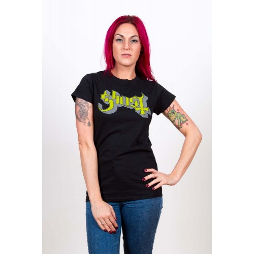 Tricou Damă Ghost Green/Grey Keyline Logo