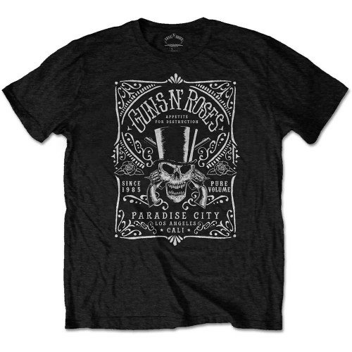 Tricou Guns N' Roses Bourbon Label
