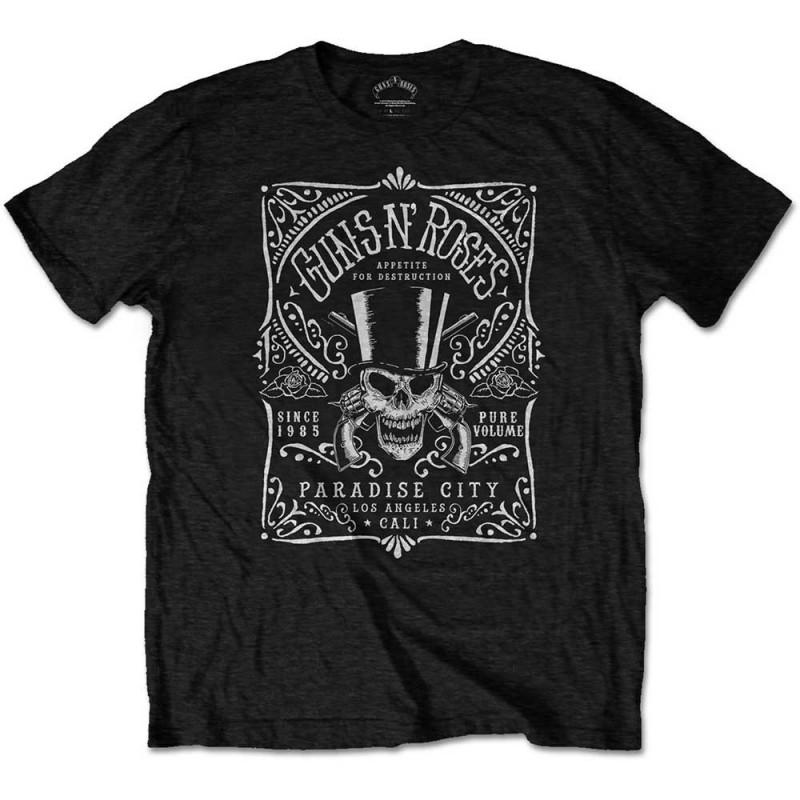 Tricou Guns N' Roses Bourbon Label