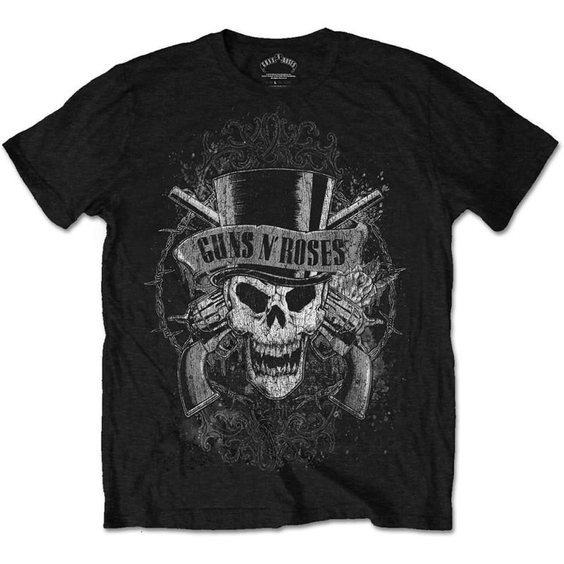 Tricou Guns N' Roses Faded Skull