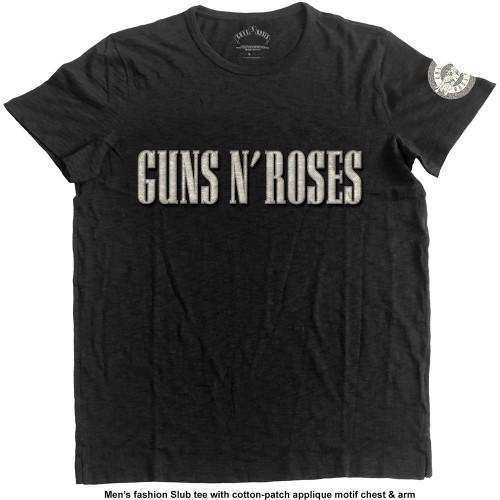 Tricou Guns N' Roses Logo & Bullet Circle