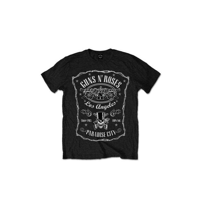 Tricou Guns N' Roses Paradise City Label