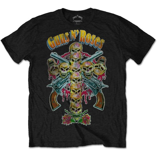 Tricou Guns N' Roses Skull Cross 80s