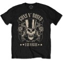 Tricou Guns N' Roses Top Hat, Skull & Pistols Las Vegas