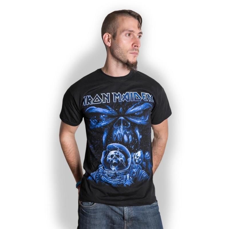 Tricou Iron Maiden Final Frontier Blue Album Spaceman