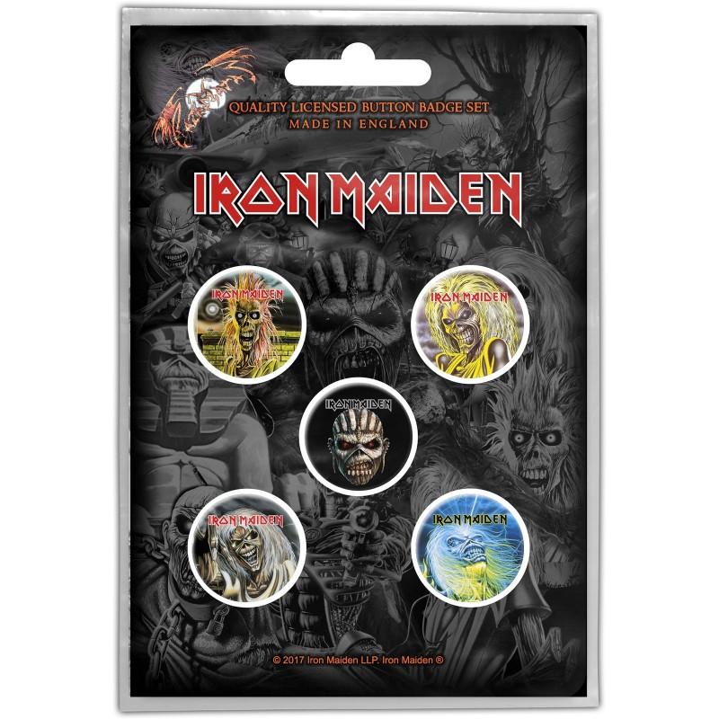 Set Insigne Iron Maiden The Faces of Eddie