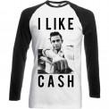 Tricou mânecă lungă Johnny Cash I Like Cash