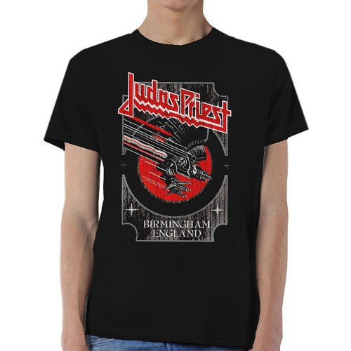 Tricou Judas Priest Silver and Red Vengeance
