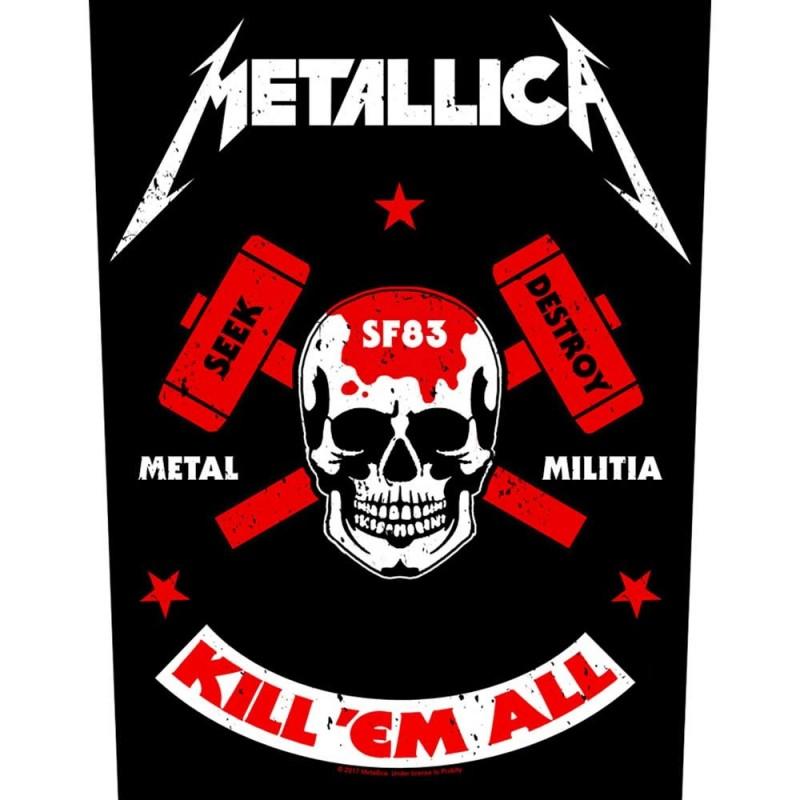 Back Patch Metallica Metal Militia