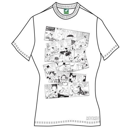 Tricou Damă Moomins Moomin Falls In Love Comic Strip