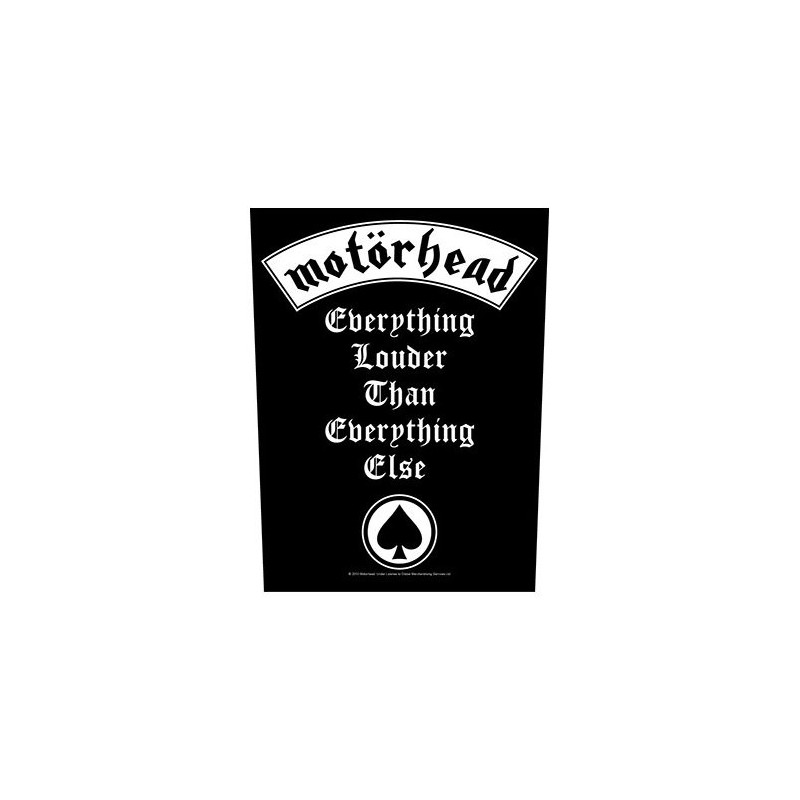 Back Patch Motorhead Everything Louder