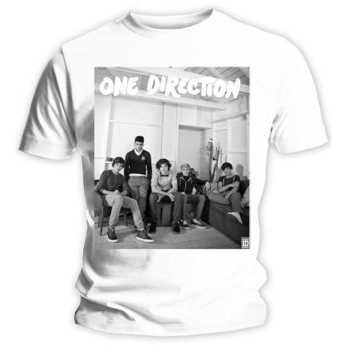 Tricou Damă One Direction Band Lounge Black & White
