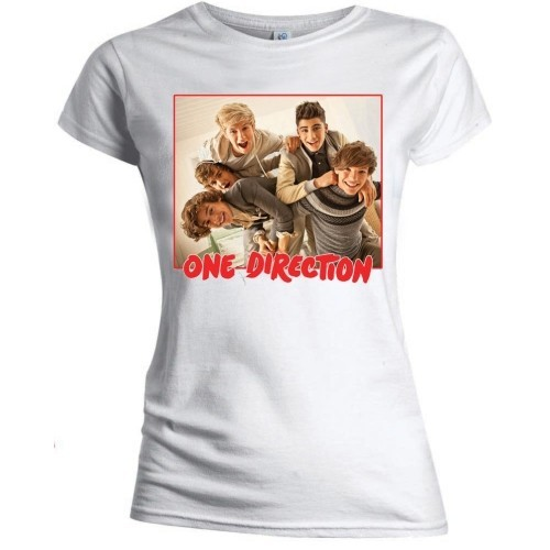 Tricou Damă One Direction Band Red Border