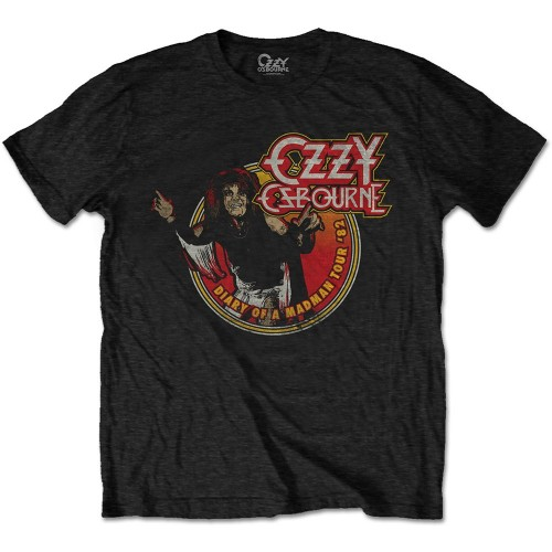 Tricou Ozzy Osbourne Diary of a Mad Man Tour 1982