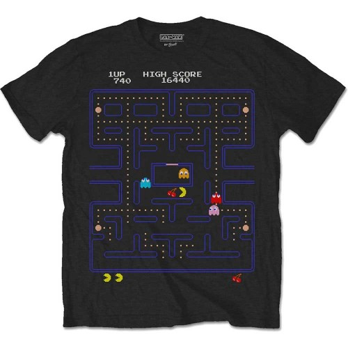 Tricou Pac-Man Game Screen
