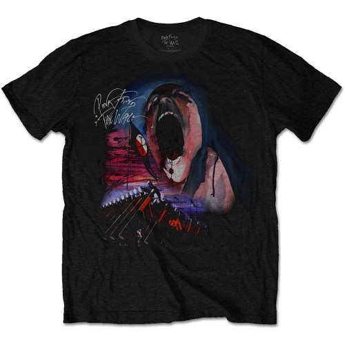 Tricou Pink Floyd The Wall Scream & Hammers