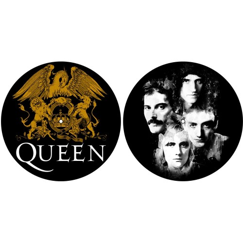 Set Slip Mat Vinyl Queen Crest & Faces