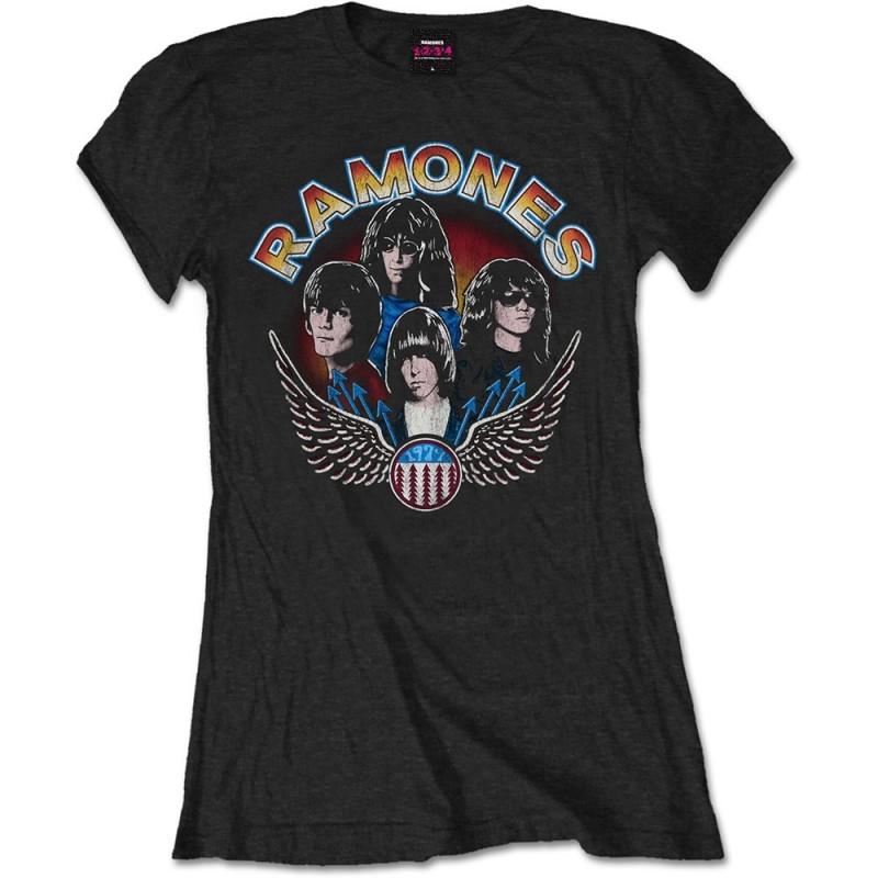 Tricou Damă Ramones Vintage Wings Photo