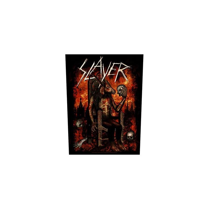 Back Patch Slayer Devil on Throne