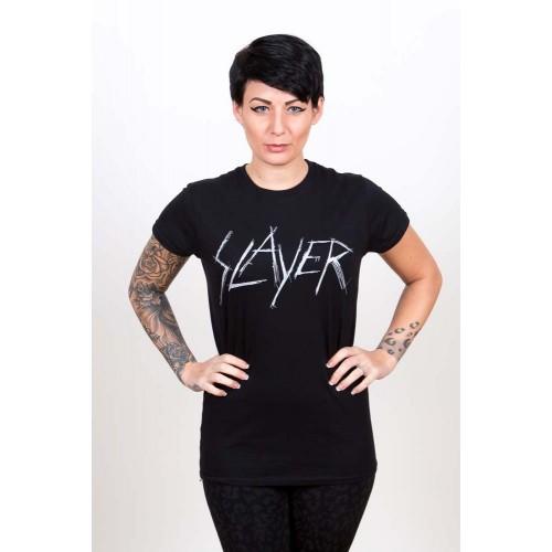Tricou Damă Slayer Scratchy Logo