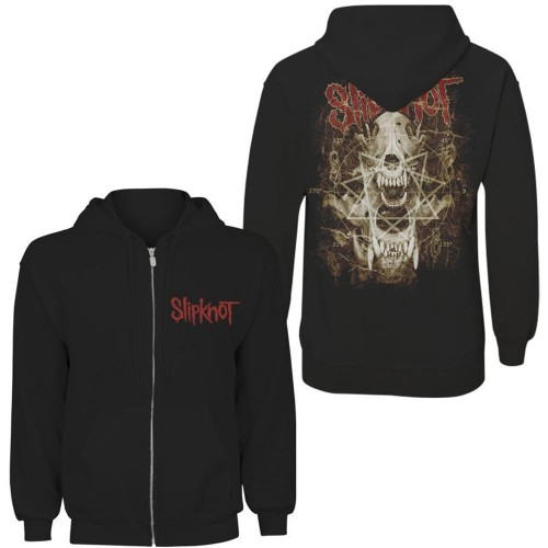 Hanorac cu fermoar Slipknot Skull Teeth