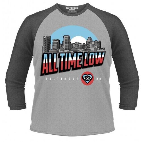 Tricou mânecă 3/4 All Time Low Baltimore