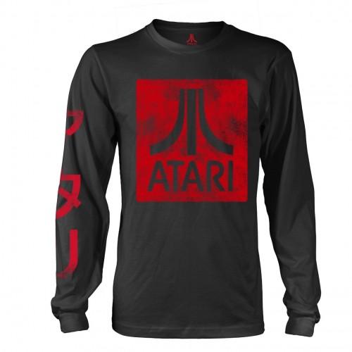 Tricou mânecă lungă Atari Box Logo Black
