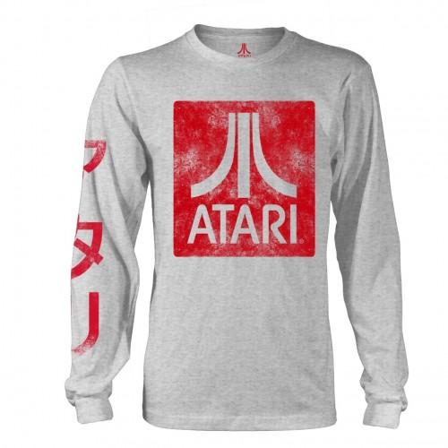 Tricou mânecă lungă Atari Box Logo Grey