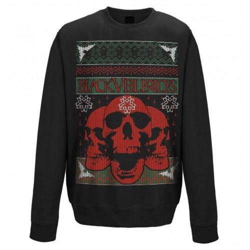 Bluză Black Veil Brides Christmas Skulls