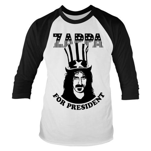Tricou mânecă 3/4 Frank Zappa Zappa For President
