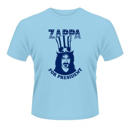 Tricou Frank Zappa Zappa For President (albastru)
